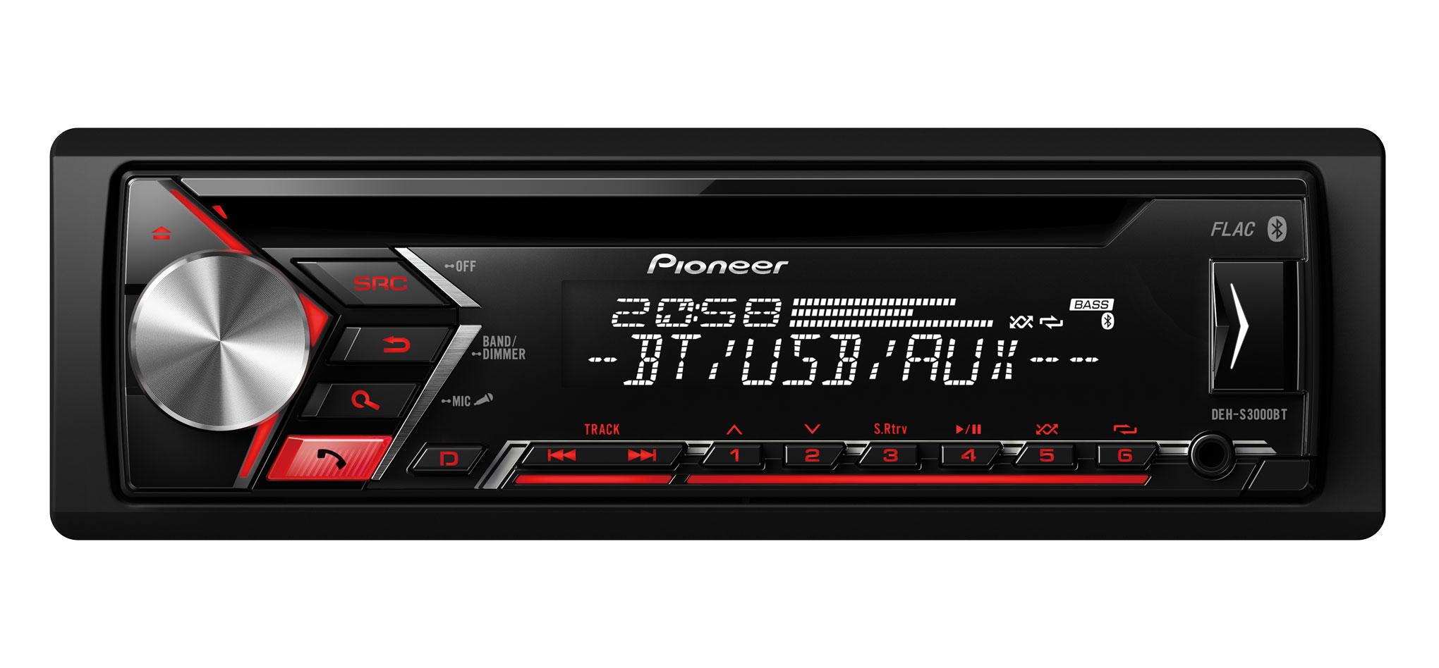 Pioneer Deh S3000bt Autoraadio Cd Mp3 Usb Aux